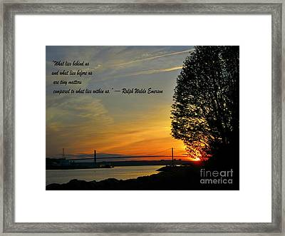 What Lies Within Framed Print by Crystal Loppie