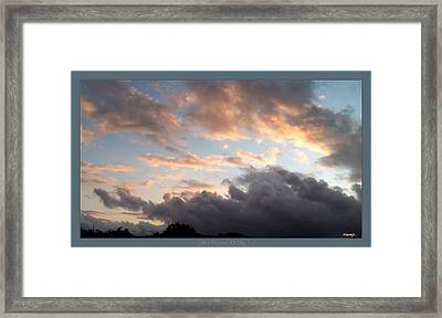 What Remains Of Day Framed Print by Glenn McCarthy Art and Photography