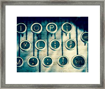 What To Say Framed Print by Sonja Quintero