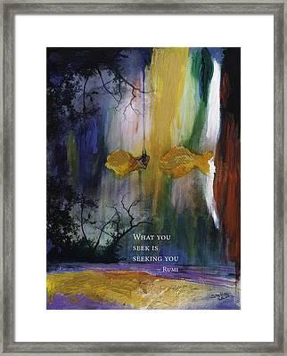 What You Seek Framed Print by Stella Levi