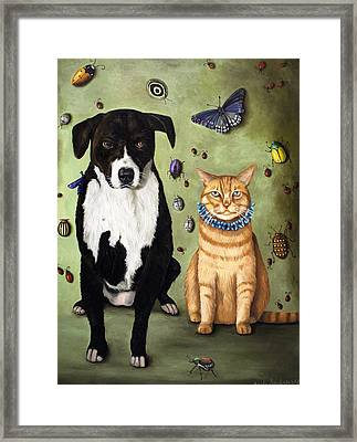 What's Bugging Luke And Molly Framed Print by Leah Saulnier The Painting Maniac