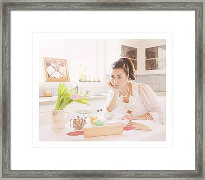 What's For Dinner Framed Print by Theresa Tahara