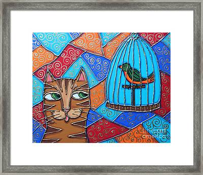 Whats For Lunch? Framed Print by Cynthia Snyder