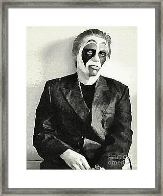 Whats The Point In Miming Framed Print by John Malone