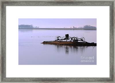 Wheat Field Under Water Framed Print by Steve Augustin