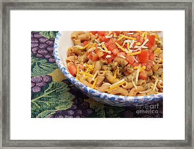 Wheat Pasta Goulash Framed Print by Andee Design