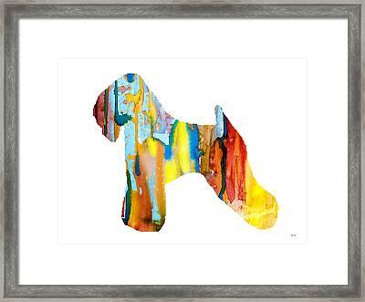 Wheaten Terrier 3 Framed Print by Luke and Slavi