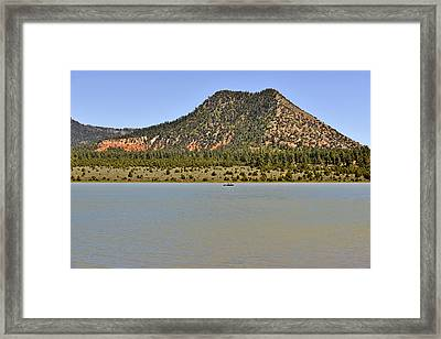 Wheatfields Lake - Chuska Mountains Framed Print by Christine Till