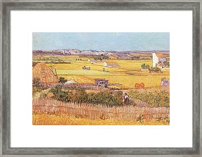 Wheatfields Framed Print by Vincent van Gogh