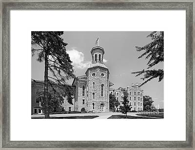 Wheaton College Blanchard Hall Framed Print by University Icons