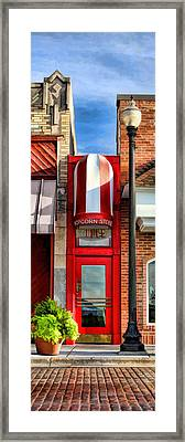Wheaton Little Popcorn Shop Panorama Framed Print by Christopher Arndt