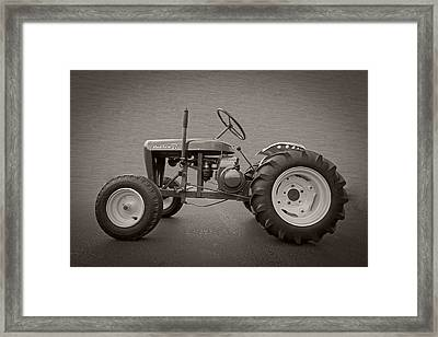 Wheel Horse Vintage Framed Print by Debra and Dave Vanderlaan