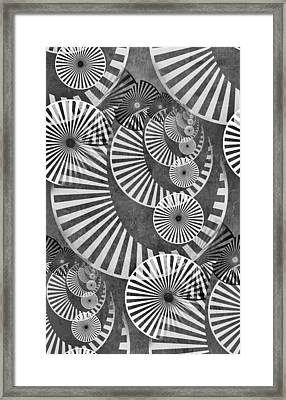 Wheel In The Sky Bw Framed Print by Angelina Vick