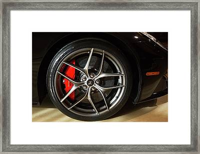 Wheel Of A Ferrari Berlinetta Framed Print by Jim West