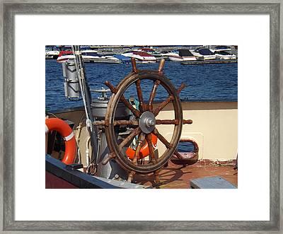 Wheel To Freedom Framed Print by Brenda Brown
