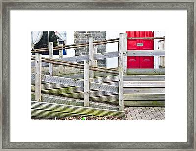 Wheelchair Ramp Framed Print by Tom Gowanlock