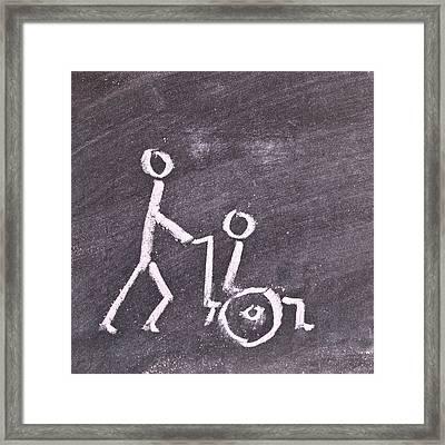 Wheelchair Framed Print by Tom Gowanlock