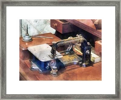 Wheeler And Wilson Sewing Machine Circa 1850 Framed Print by Susan Savad