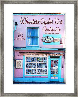 Wheelers Oyster Bar Framed Print by Mark Rogan
