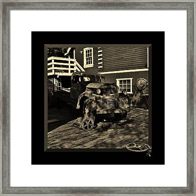 Wheels Of Old Framed Print by Barbara St Jean
