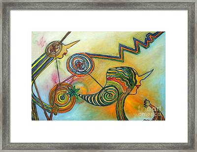 Wheels Of Time Framed Print by Mukta Gupta