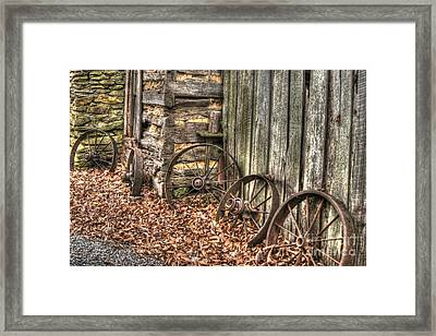 Wheels Of Time Two Framed Print by Benanne Stiens