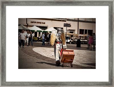 When Angel Left Framed Print by Joanna Madloch