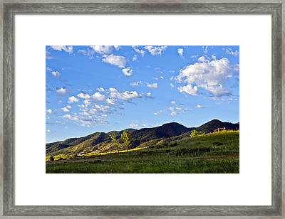 When Clouds Meet Mountains Framed Print by Angelina Vick