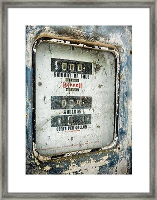 When Gas Made Cents Framed Print by Caitlyn  Grasso