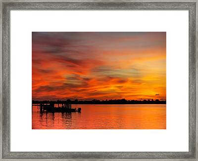 When God Paints Framed Print by Karen Wiles