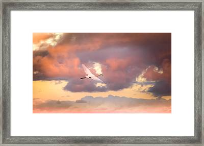 When Heaven Beckons Framed Print by Karen Wiles