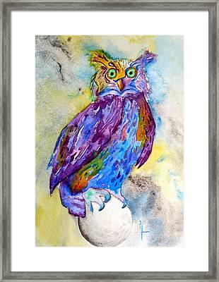 When I Put My Owl Mask On Framed Print by Beverley Harper Tinsley