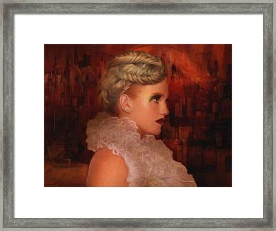 When In Paris Visit The Moulin Rouge Framed Print by Angela A Stanton