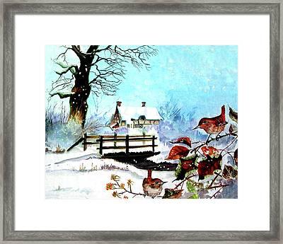 When It Snows Framed Print by Farah Faizal