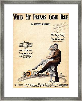 When My Dreams Come True Framed Print by Mel Thompson
