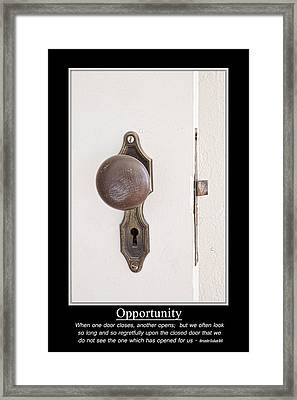 When One Door Closes Another Opens Poster Framed Print by James BO  Insogna