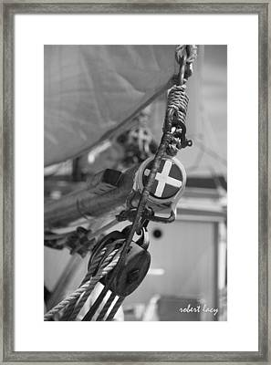 When Rope And Canvas Ruled The Seas Framed Print by Robert Lacy