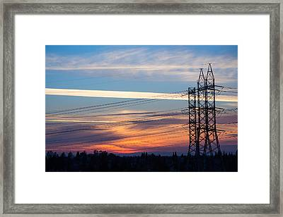 When The Evening Sets In Framed Print by Rima Biswas