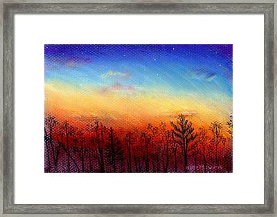 When The Heavens Sing Framed Print by Shana Rowe Jackson