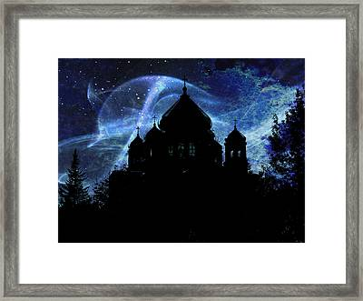 When The Night Comes Framed Print by Zinvolle Art