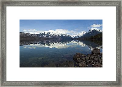 When The Sun Shines On Glacier National Park Framed Print by Fran Riley