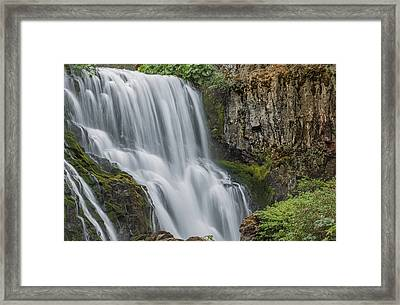 When Water Meets Rock Framed Print by Loree Johnson