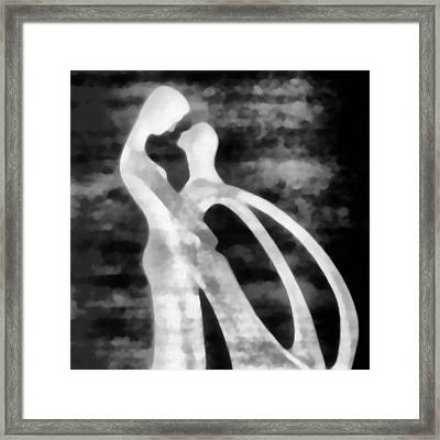 When You Hold Your Baby Tight Framed Print by Angelina Vick