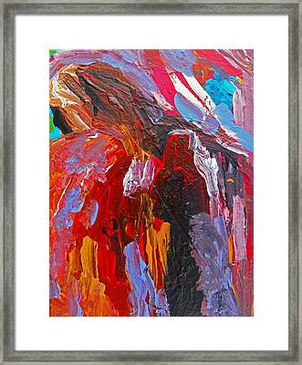 When You Least Expect Me Framed Print by Judith Redman