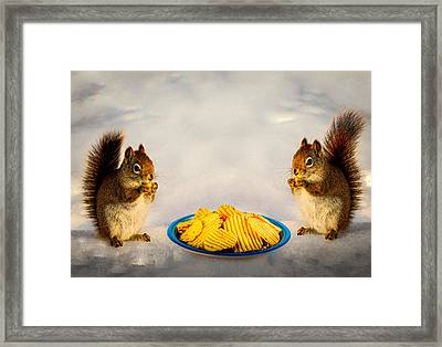When You Lose Your Nuts There Is Always Chips Framed Print by Bob Orsillo