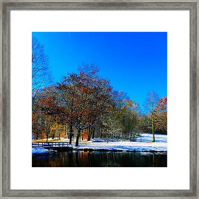Where Autumn Falls Into Winter Framed Print by Jeff Picoult