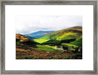 Where Is Soul Flying. Wicklow Mountains. Ireland Framed Print by Jenny Rainbow