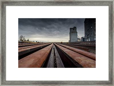 Where It Goes-2 Framed Print by Fran Riley