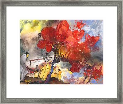 Where Love Grows Framed Print by Miki De Goodaboom