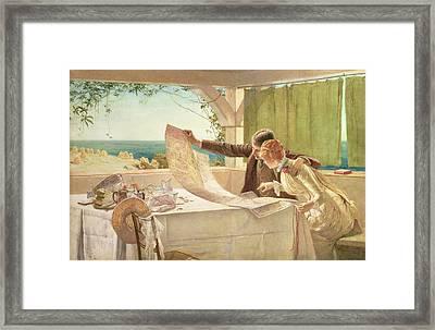 Where Next Framed Print by Edward Frederick Brewtnall